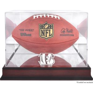 Cincinnati Bengals Fanatics Authentic Mahogany Football Logo Display Case with Mirror Back