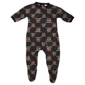 Cincinnati Bengals Infant Piped Raglan Full Zip Coverall