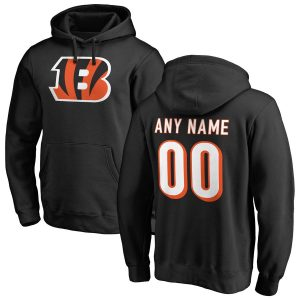 Cincinnati Bengals Any Name & Number Logo Personalized Pullover Hoodie