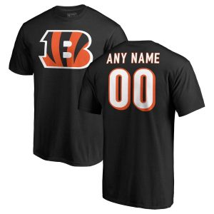 Cincinnati Bengals NFL Pro Line Any Name & Number Logo Personalized T-Shirt