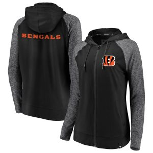 Cincinnati Bengals Women's Made to Move Color Blast Full-Zip Raglan Hoodie