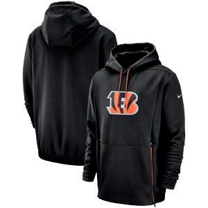 Cincinnati Bengals Nike Sideline Performance Player Pullover Hoodie