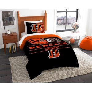 Cincinnati Bengals The Northwest Company NFL Draft Twin Comforter Set