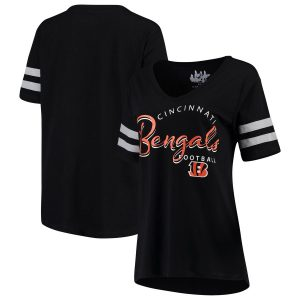 Cincinnati Bengals Touch by Alyssa Milano Women's Triple Play V-Neck T-Shirt