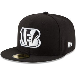 Men's Cincinnati Bengals New Era Black B-Dub 59FIFTY Fitted Hat