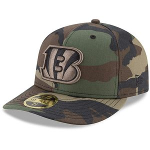 Men's Cincinnati Bengals New Era Woodland Camo Low Profile 59FIFTY Fitted Hat