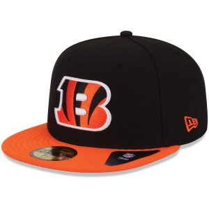 New Era Cincinnati Bengals Black/Orange 59FIFTY Fitted Hat