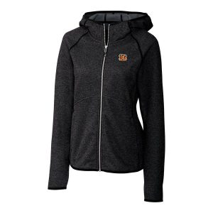 Women's Cincinnati Bengals Cutter & Buck Black Mainsail Full-Zip Jacket