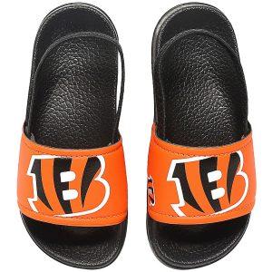 Cincinnati Bengals Youth Cropped Big Logo Flip Flops