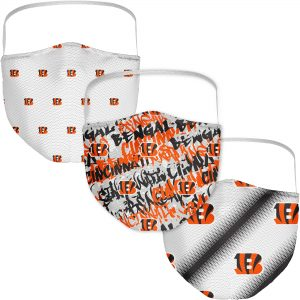 Cincinnati Bengals Adult Official Logo Face Covering 3-Pack