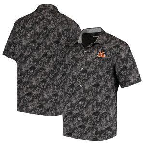Cincinnati Bengals Tommy Bahama Sport Jungle Shade Camp Button-Down Shirt
