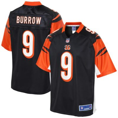 Joe Burrow Cincinnati Bengals Logo Player Jersey