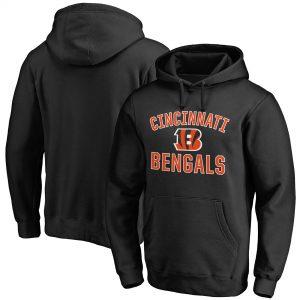 Cincinnati Bengals Black Victory Arch Team Pullover Hoodie